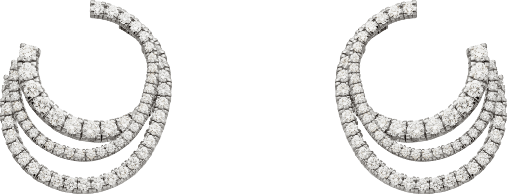 Etincelle de Cartier earringsWhite gold, diamonds