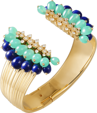 Cactus de Cartier bracelet Yellow gold, chrysoprase, lapis lazuli, diamonds