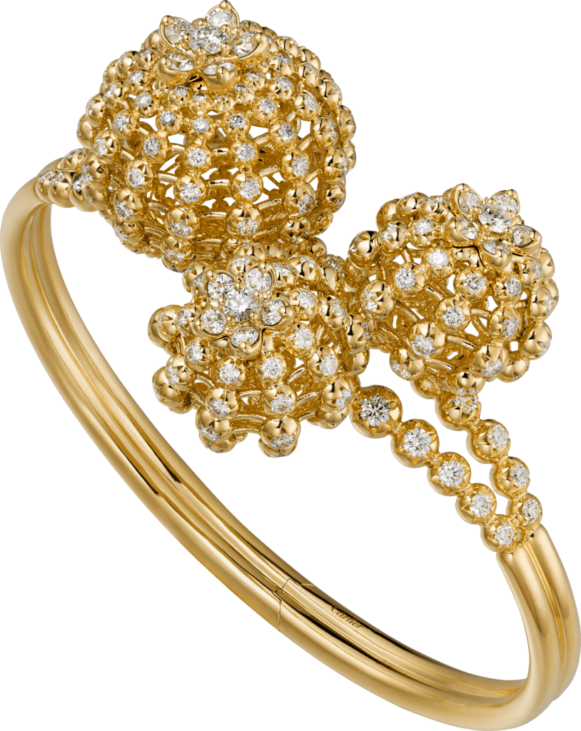 Cactus de Cartier braceletYellow gold, diamonds