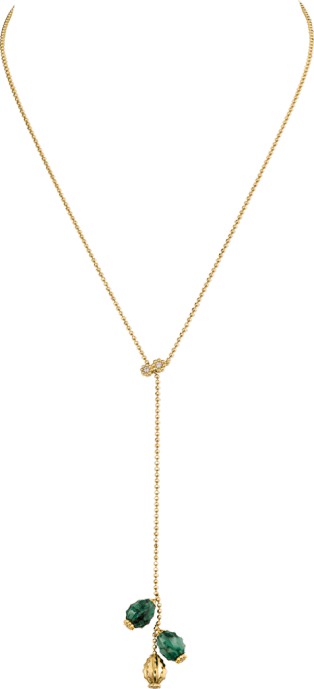 Cactus de Cartier necklace Yellow gold, aventurine, diamonds