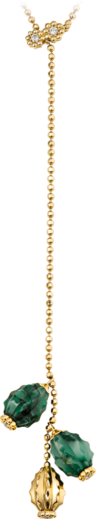 Cactus de Cartier necklaceYellow gold, aventurine, diamonds