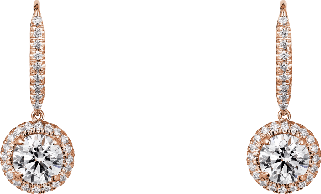 Cartier Destinée earringsPink gold, diamonds