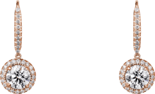 Cartier Destinée earrings Pink gold, diamonds