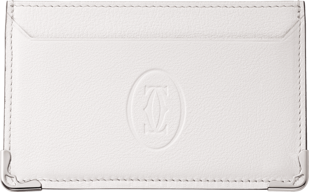 Must de Cartier Small Leather Goods, card holderWhite calfskin, stainless steel finish
