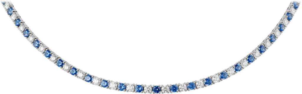 Essential Lines necklaceWhite gold, diamonds, sapphires
