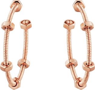 Ecrou de Cartier earrings Pink gold