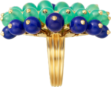 Cactus de Cartier ring Yellow gold, chrysoprase, lapis lazuli, diamonds