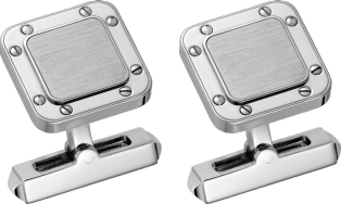 Santos de Cartier cufflinks Sterling silver, palladium finish