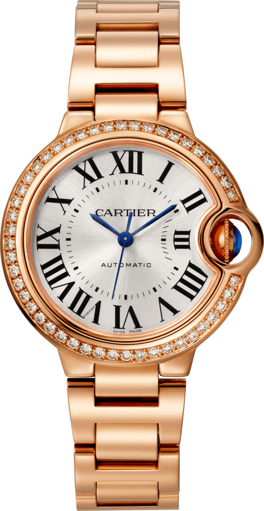 Ballon Bleu de Cartier watch33 mm, pink gold, diamonds