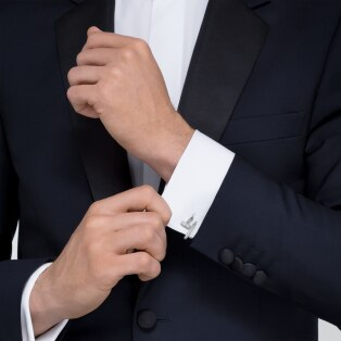 Juste un Clou cufflinks White gold and diamonds