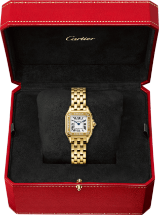 Panthère de Cartier watch Small model, quartz movement, yellow gold, diamonds