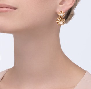Cactus de Cartier earrings Yellow gold, diamonds