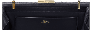 Panthère de Cartier clutch bag Midnight blue and golden python skin, golden finish