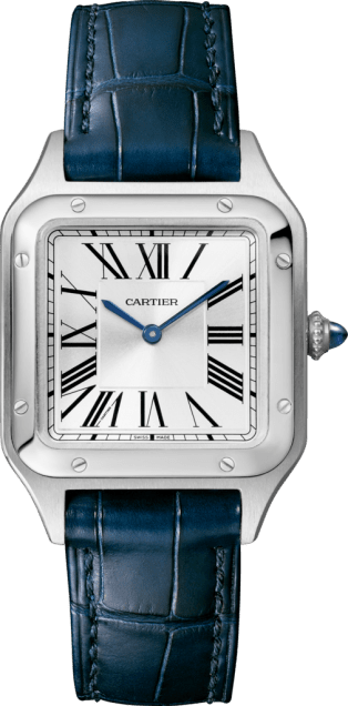 Santos-Dumont watch Small model, steel, leather