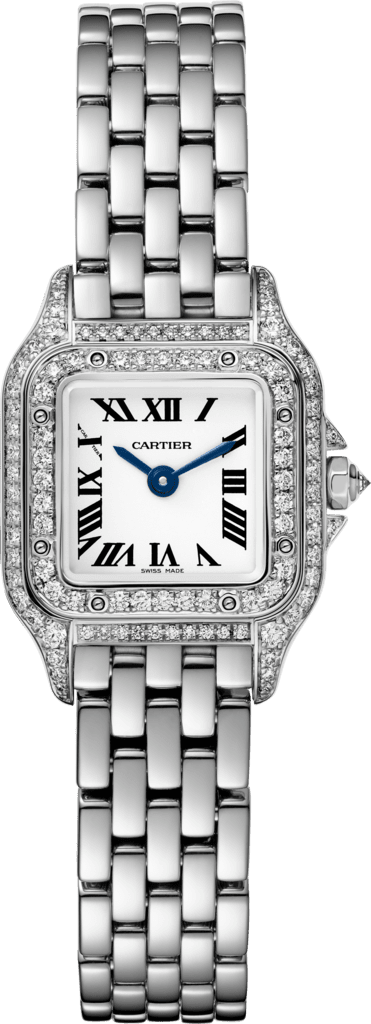 Panthère de Cartier watchMini model, quartz movement, white gold