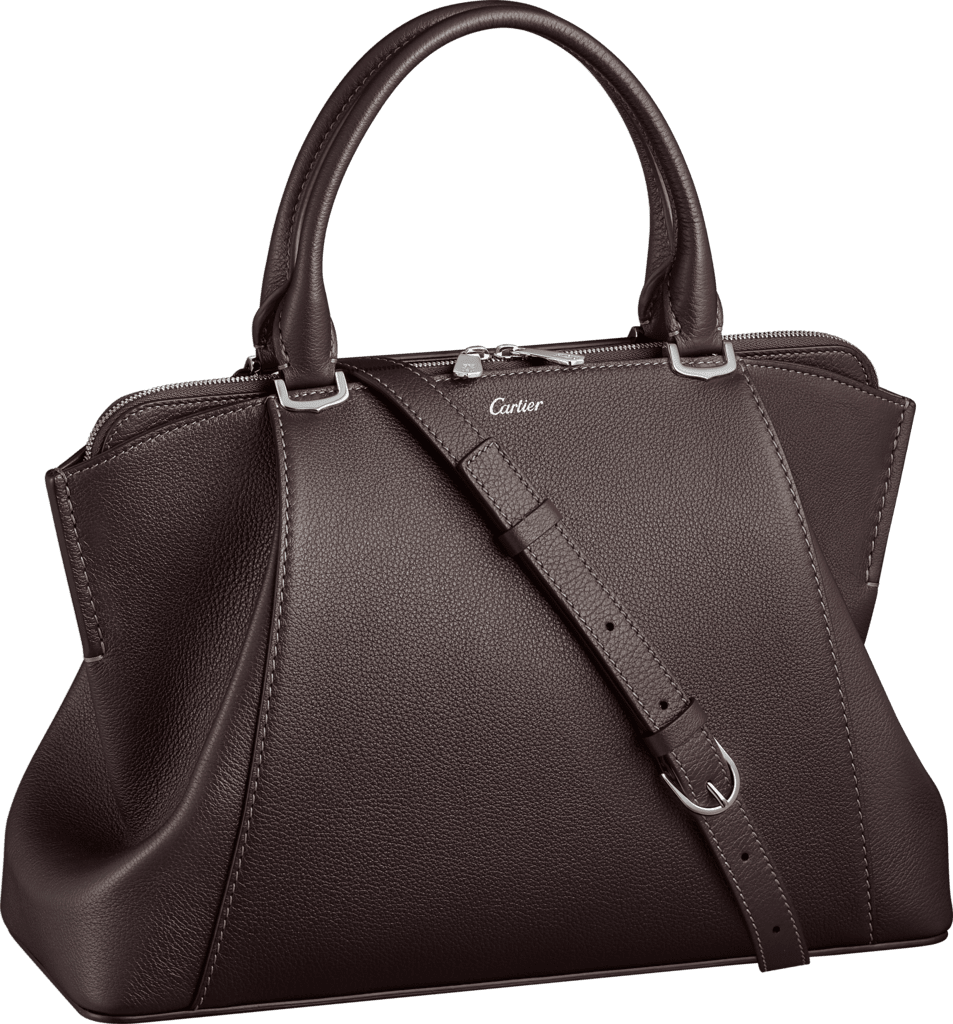 C de Cartier bag, small modelRhodolite garnet taurillon leather, palladium finish