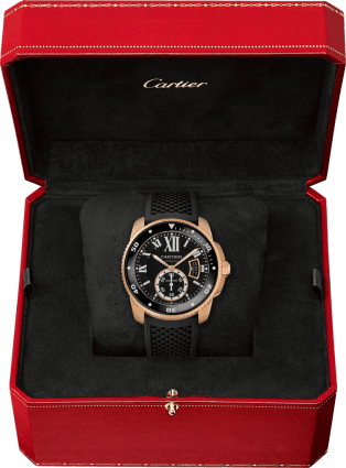 Calibre de Cartier Diver watch 42 mm, pink gold
