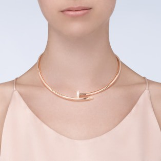 Juste un Clou necklace Pink gold, diamonds