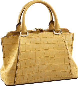 C de Cartier bag, mini model Citrine nubuck alligator skin, gold finish