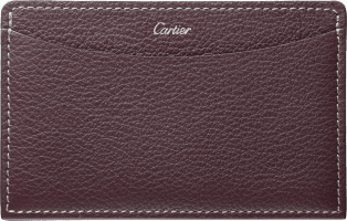 C de Cartier Small Leather Goods, card holder Rhodolite garnet taurillon leather, palladium finish