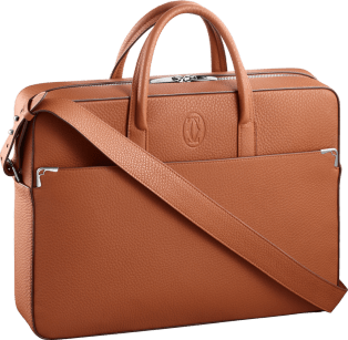 Must de Cartier bag, document holder Caramel grained calfskin, palladium finish