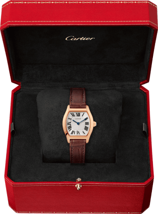 Tortue watch Small model, pink gold