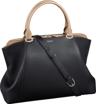 C de Cartier bag Onyx- and golden-colored taurillon leather, golden finish