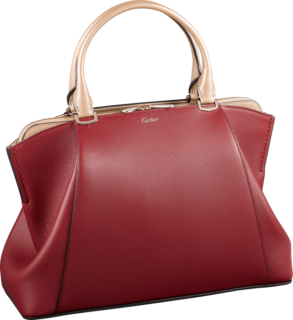 C de Cartier bagOnyx- and golden-colored and golden taurillon leather, golden finish