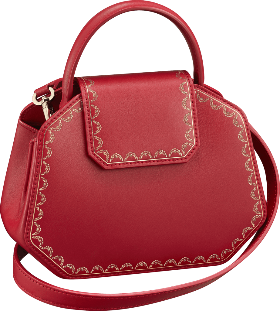 Guirlande de Cartier bag, mini modelRed calfskin, golden finish