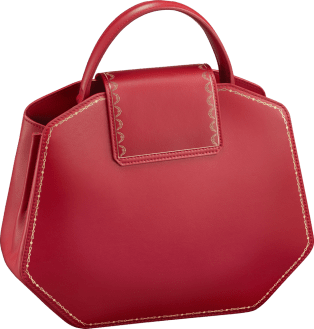 Guirlande de Cartier bag, small model Red calfskin, golden finish