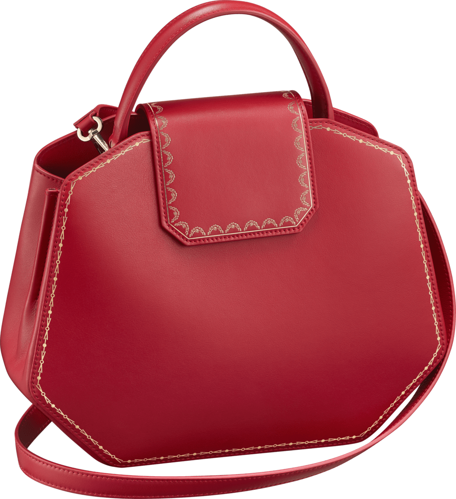 Guirlande de Cartier bag, small modelRed calfskin, golden finish