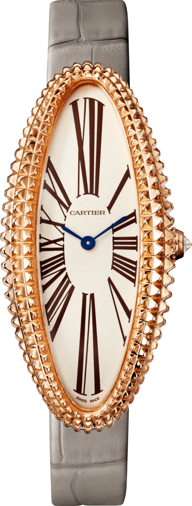 Baignoire Allongée watchMedium model, pink gold