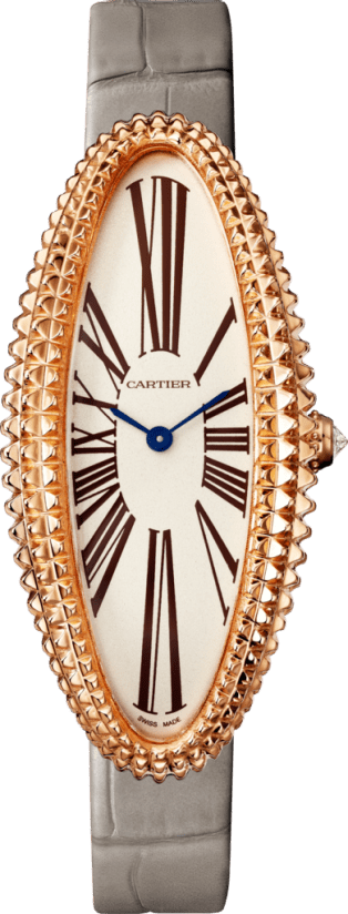 Baignoire Allongée watch Medium model, pink gold