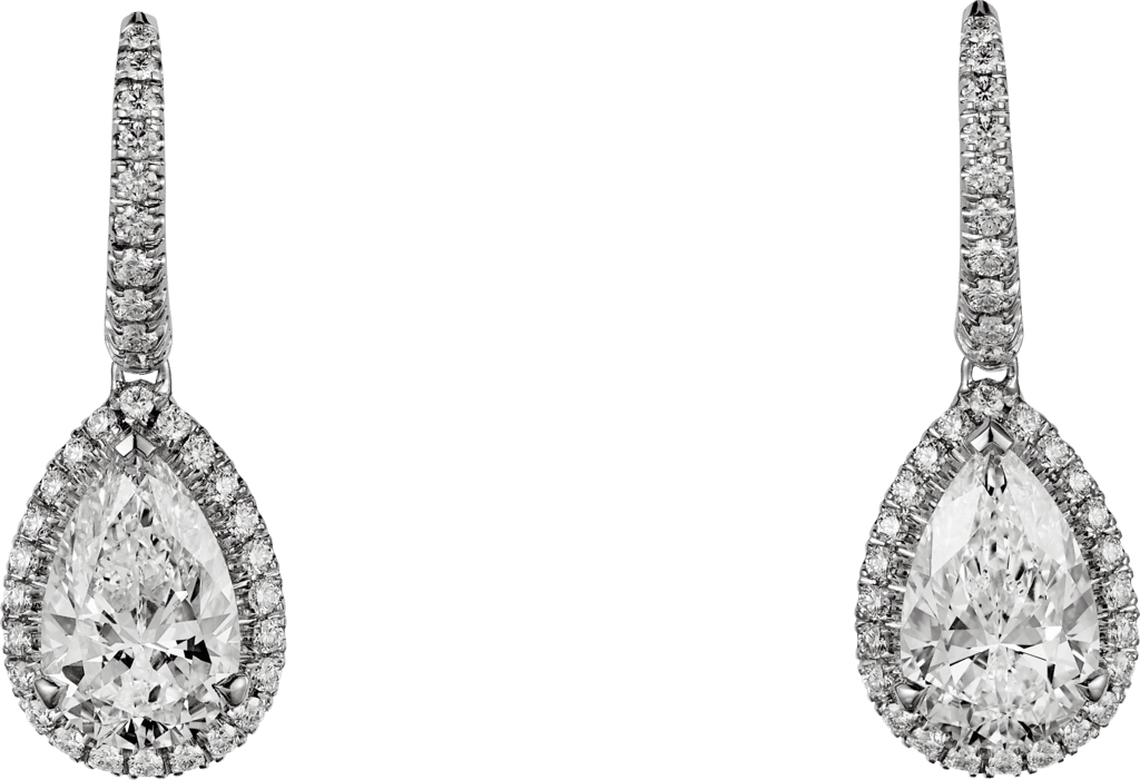 Cartier Destinée earringsPlatinum, diamonds