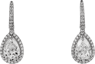 Cartier Destinée earrings Platinum, diamonds