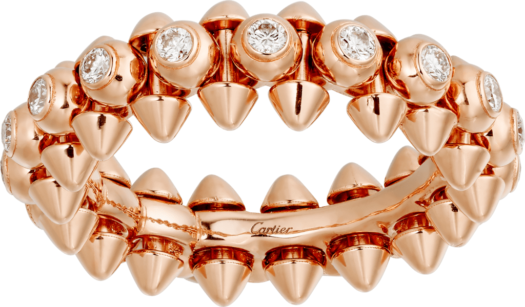 Clash de Cartier ring DiamondsPink gold, diamonds