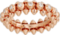 Clash de Cartier ring Diamonds Pink gold, diamonds
