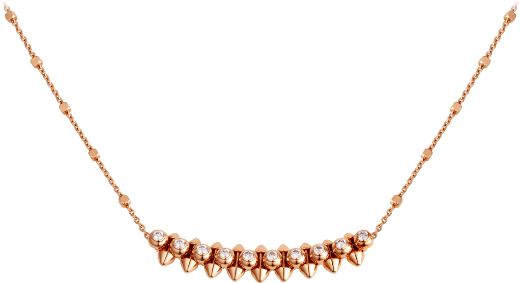 Clash de Cartier necklace DiamondsPink gold, diamonds