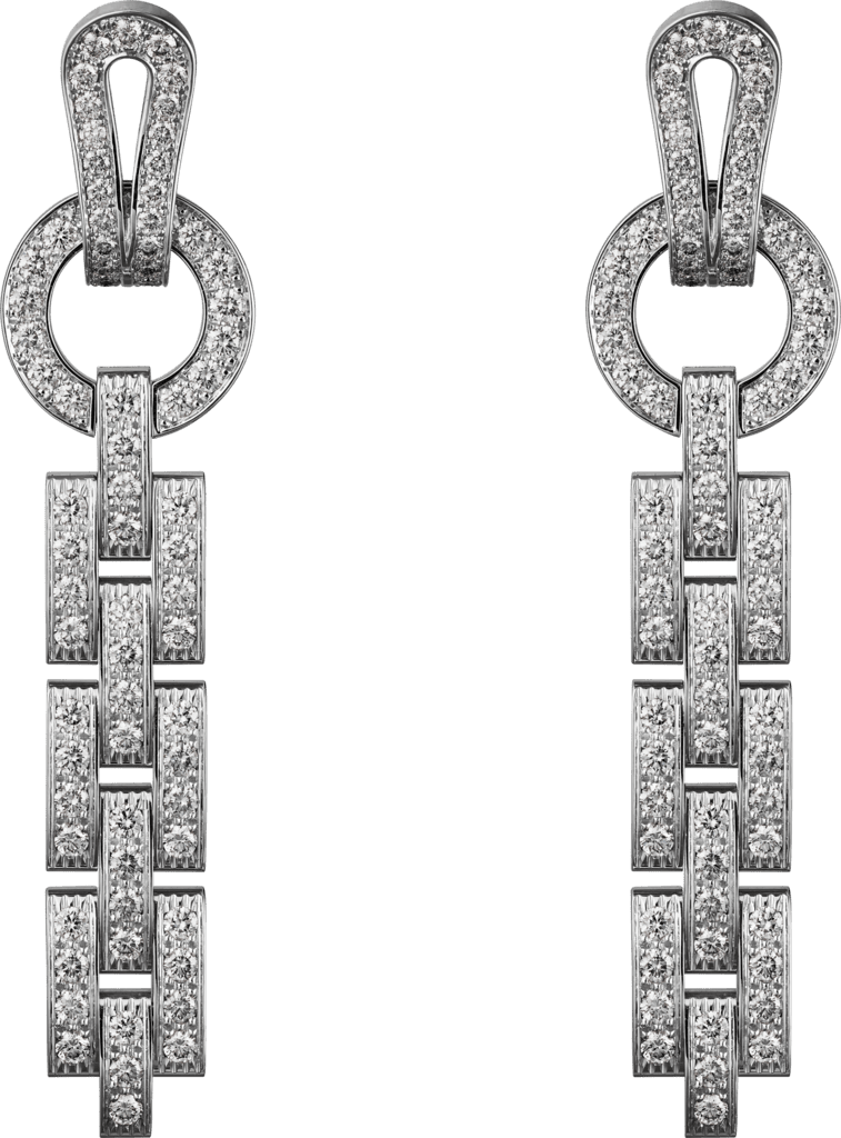 Agrafe earringsWhite gold, diamonds
