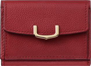 C de Cartier Small Leather Goods, wallet Red spinel taurillon leather, golden finish