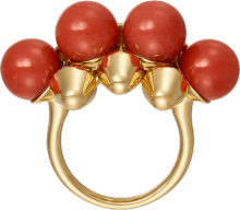 Clash de Cartier ring XL Model Yellow gold, coral