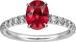 1895 solitaire ring Platinum, rubies, diamonds