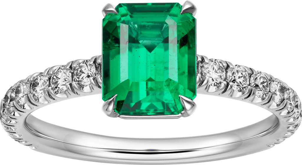 Solitaire 1895Platinum, emerald, diamonds