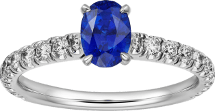 1895 solitaire ring Platinum, sapphire, diamonds