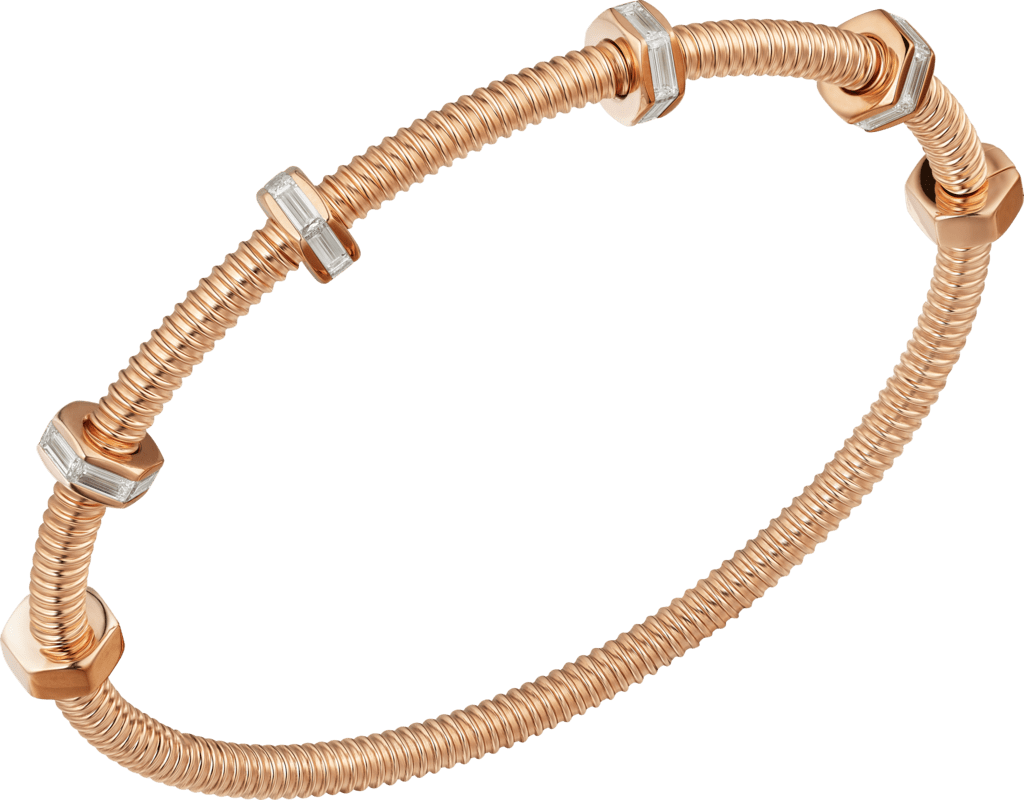 Ecrou de Cartier braceletPink gold, diamonds