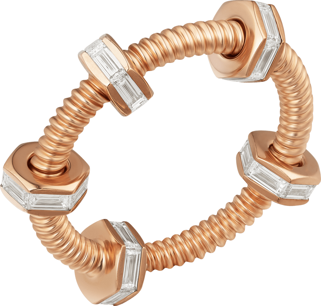 Ecrou de Cartier ringPink gold, diamonds