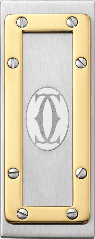 Santos de Cartier money clip Stainless steel, gold-finish metal