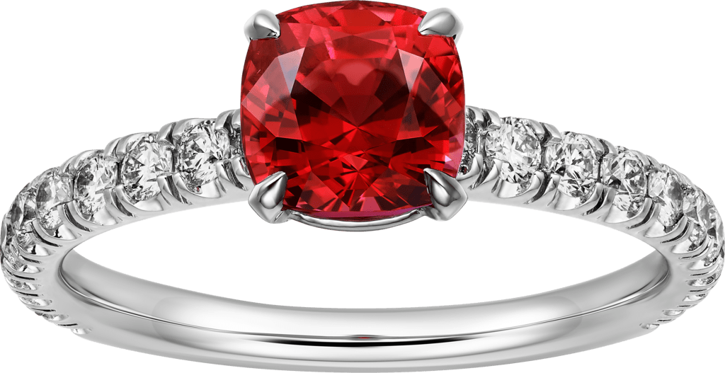 Solitaire 1895Platinum, rubies, diamonds