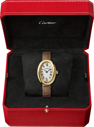 Baignoire watch Small model, yellow gold