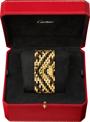 Panthère de Cartier watch Cuff, yellow gold and black lacquer